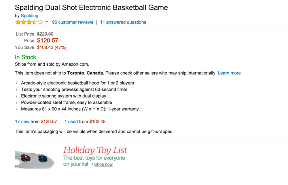 Spalding Dual Shot Electronic Basketball Game-sale-02