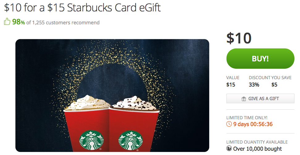 Starbucks-Groupon
