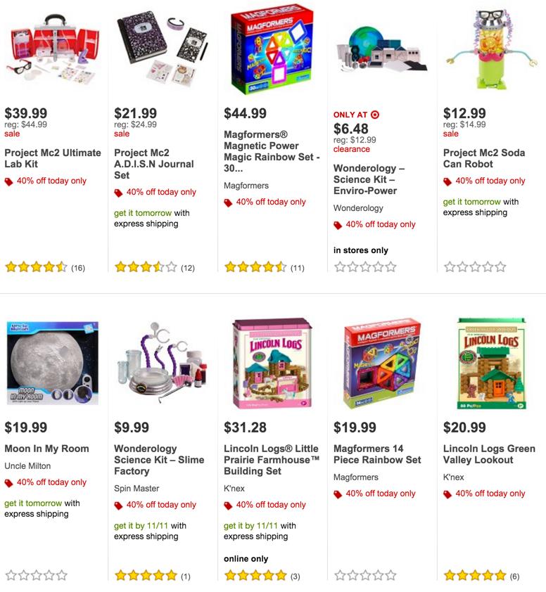 Target STEM 40% off Sale