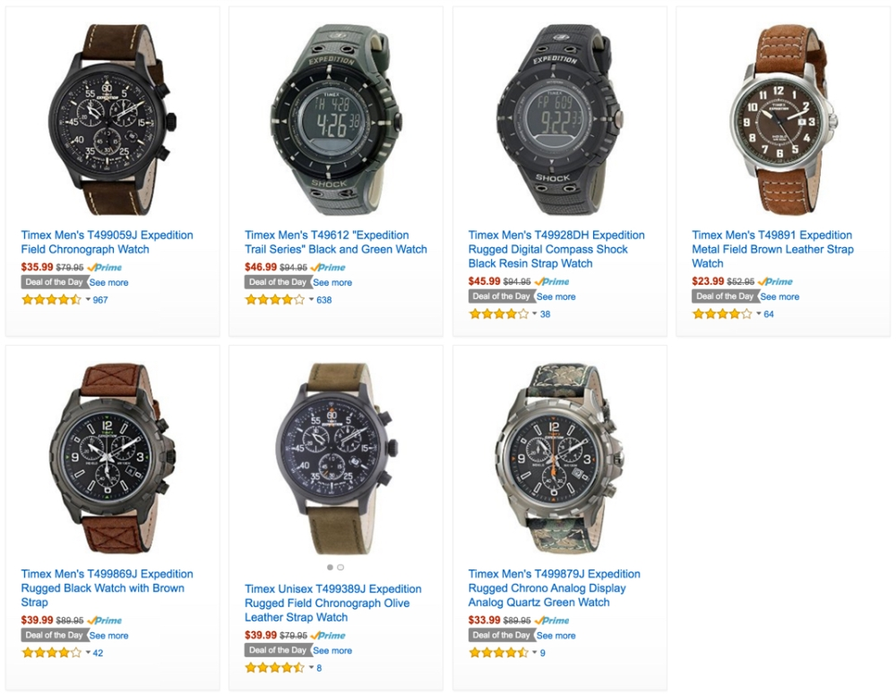 Timex Men's Expedition Watches