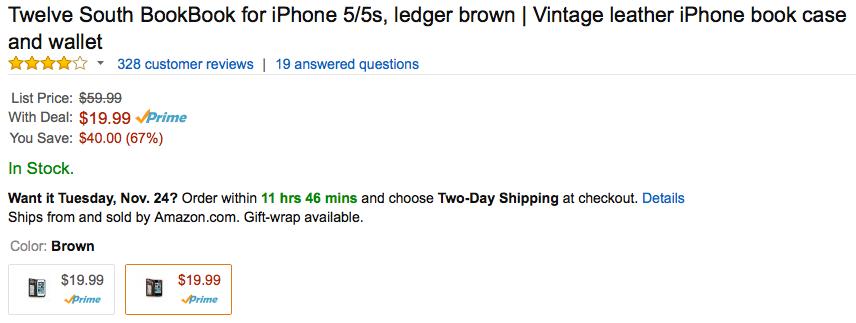 Twelve South BookBook for iPhone 5 5s Amazon