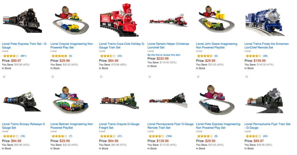 Up to 50% off Select Lionel Trains