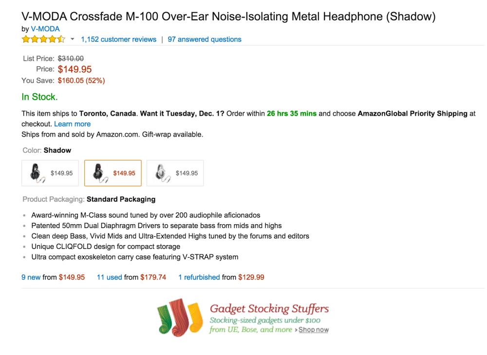 V-MODA Crossfade M-100 Over-Ear Noise-Isolating Metal Headphone-sale-02