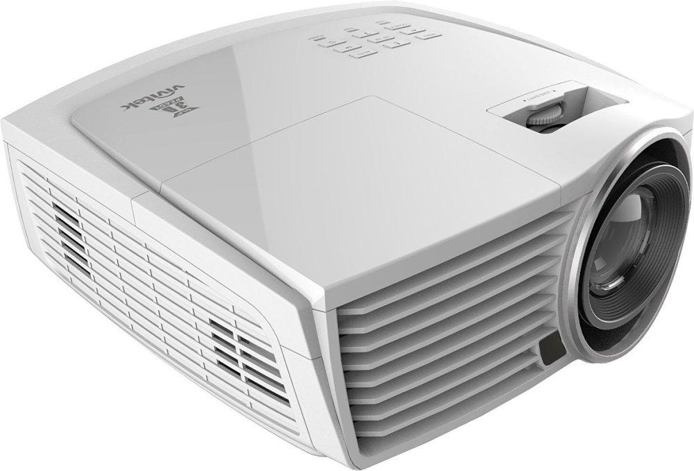 Vivitek H1186-WT 2000 lm 1080 Pixel Full HD 3D DLP Home Entertainment Projector (White)