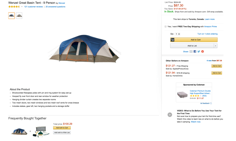 Wenzel Great Basin 9 Person Tent-sale-02