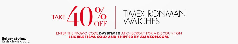 40% off Timex fitness:sport watches