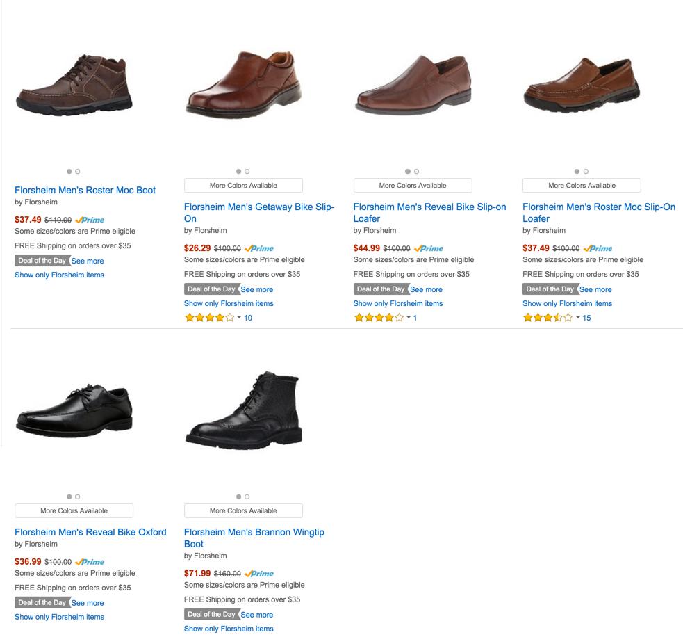 55% Off Florsheim Men's Shoes