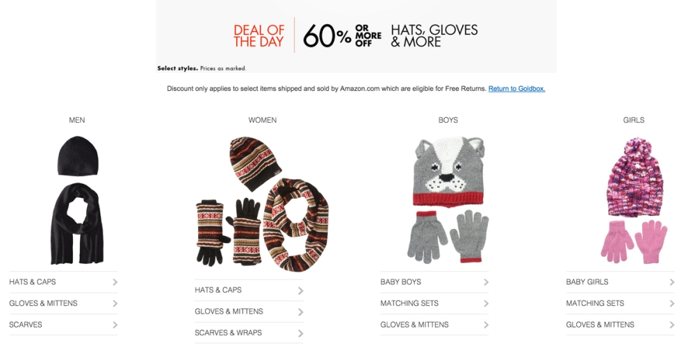 60% or More Off Hats, Gloves, & More