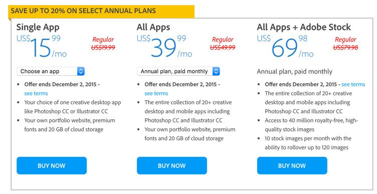 Adobe creative cloud 20% off