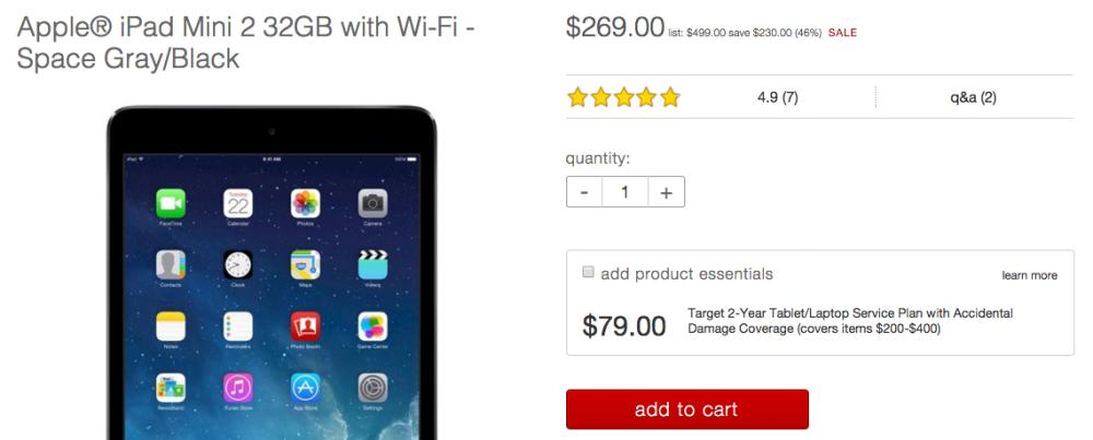 Apple iPad Mini 2 32GB with Wi-Fi Target