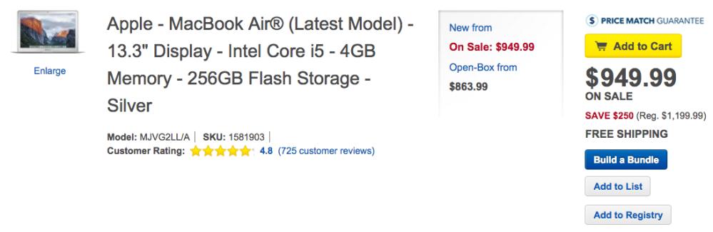 Apple MacBook Air Best Buy