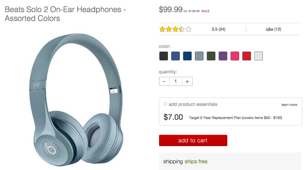 Beats Solo 2 On-Ear Headphones Target