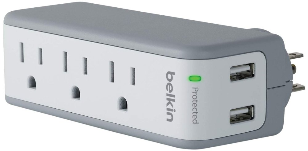 Belkin SurgePlus 3-Outlet Mini Travel Swivel Charger