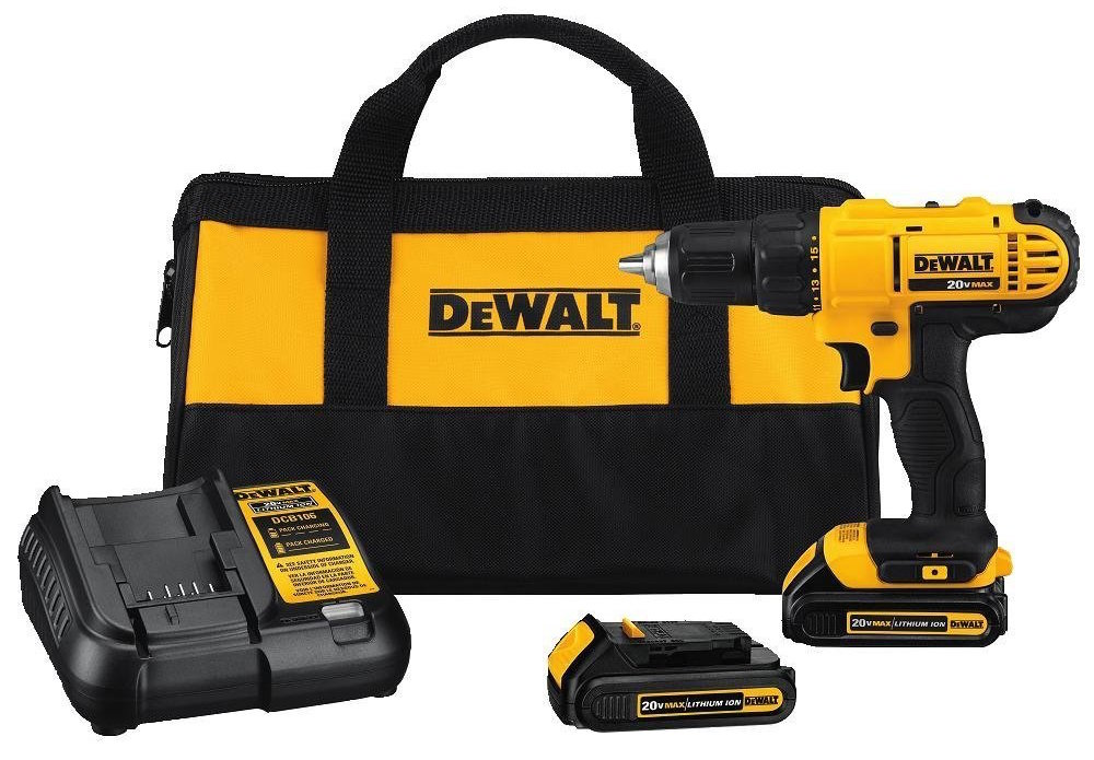 DEWALT 20V MAX Lithium-Ion Compact Drill:Driver Kit-sale-01