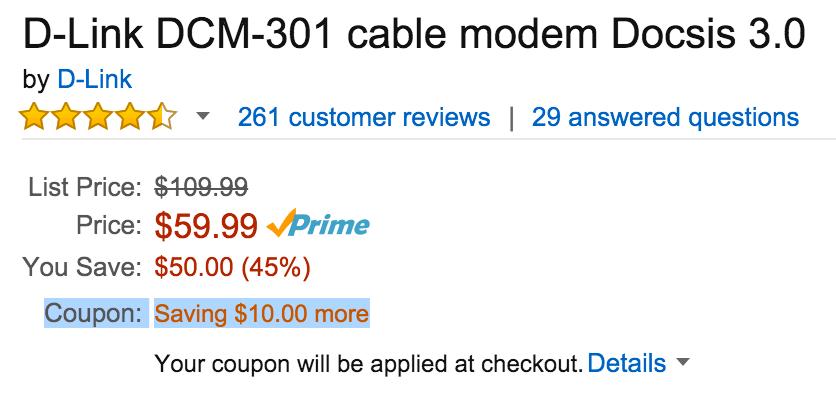 dlink-docsis-modem-deal
