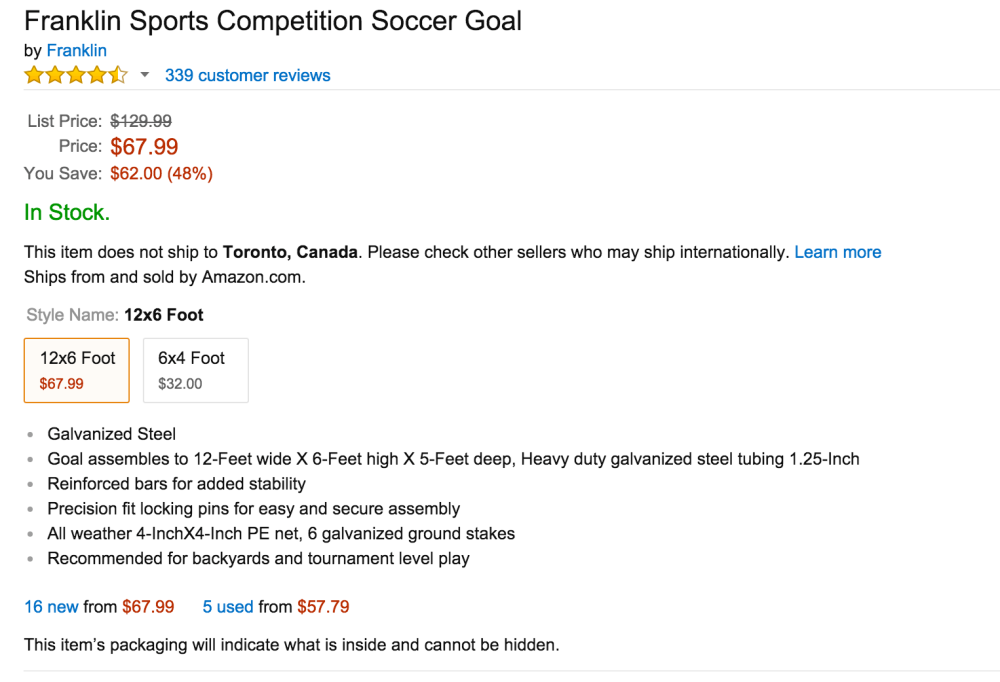 Franklin Sports Competition Soccer Goal-sale-02
