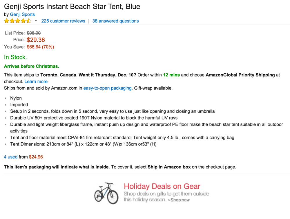 Genji Sports Instant Beach Star Tent-sale-02