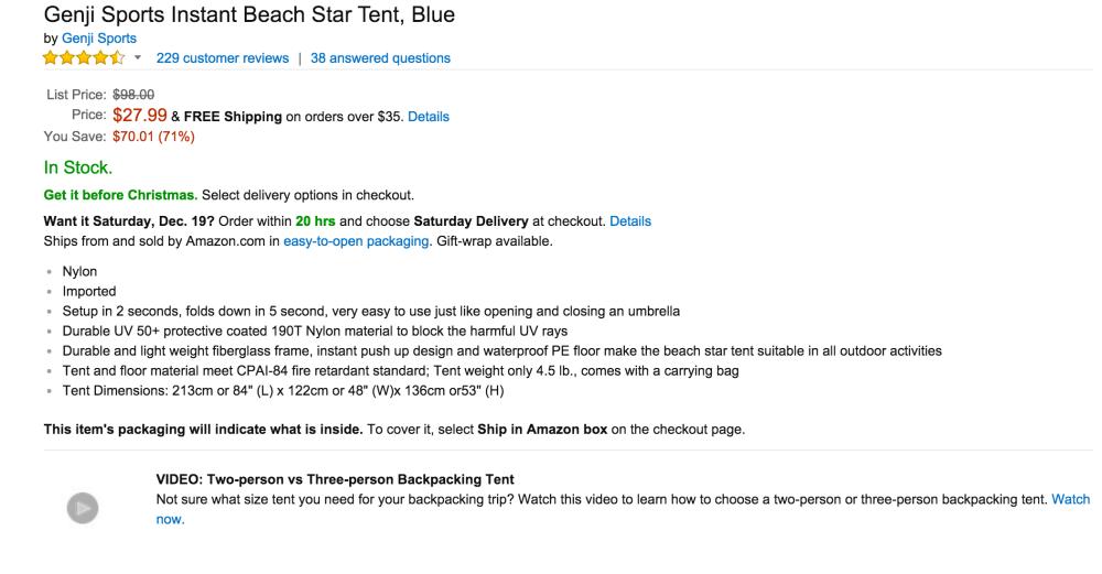 Genji Sports Instant Beach Star Tent-sale-02