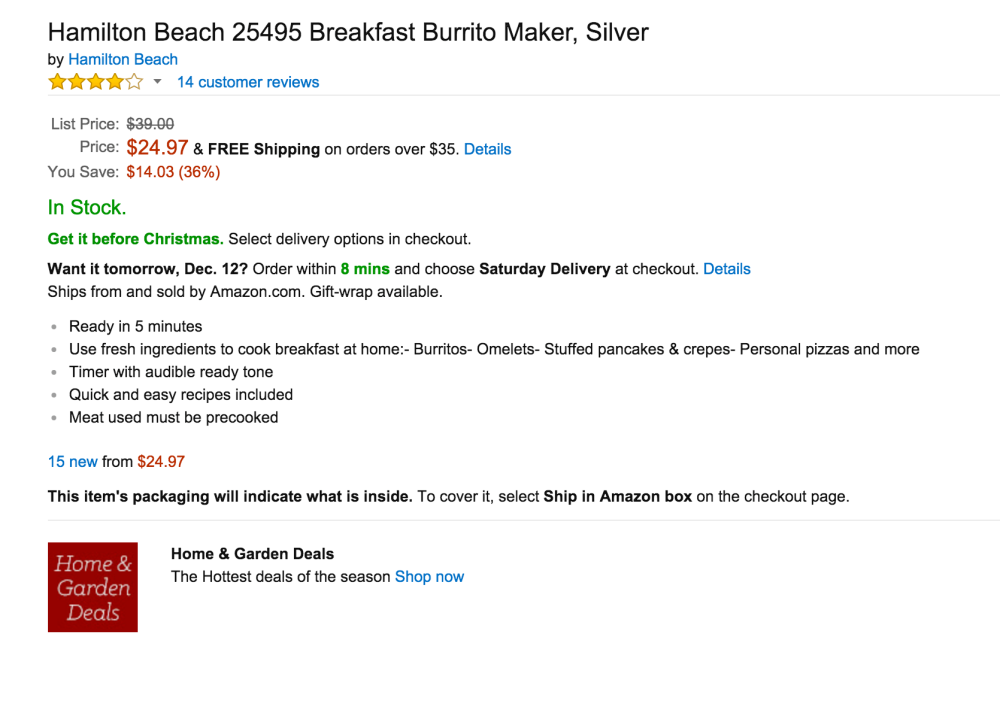 Hamilton Beach Breakfast Burrito Maker (25495)-sale-03