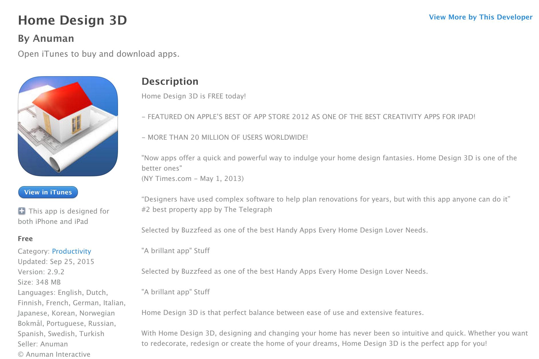 Home Designer 3D IOS Apps Sale 05
