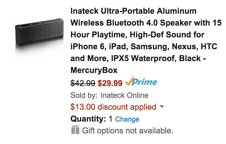 inateck-mercury-bluetooth-speaker-amazon-deal
