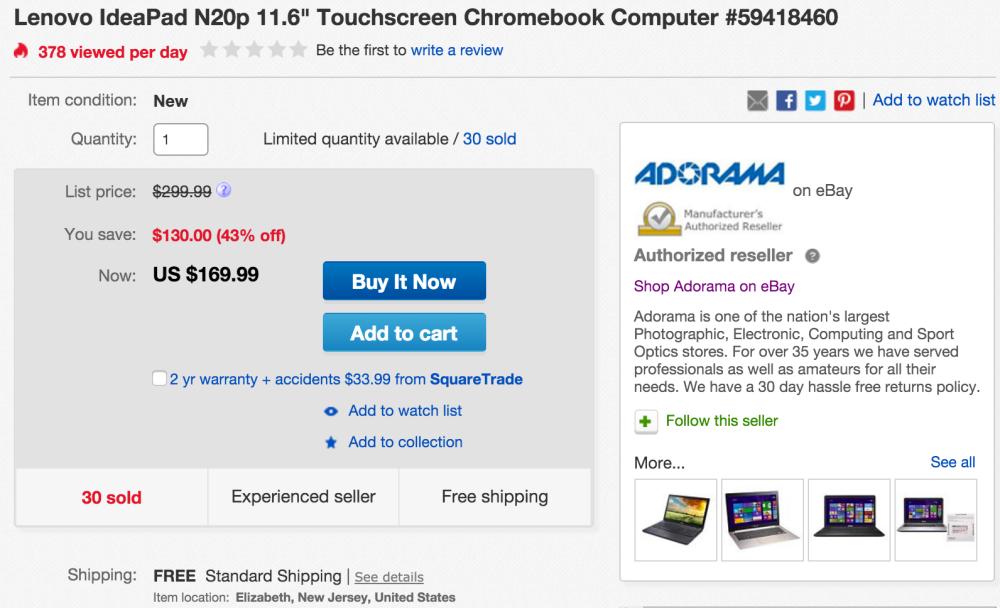 lenovo-chromebook-adorama-deal