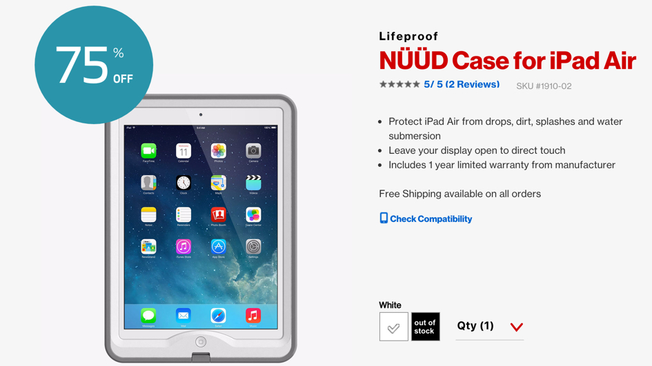 LifeProof NÜÜD iPad Air Waterproof Case