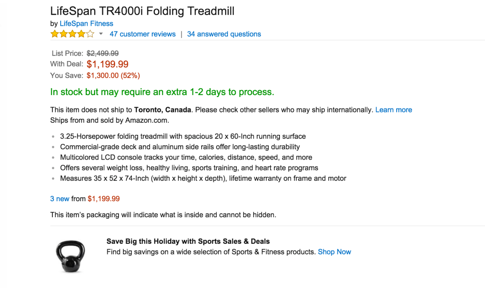 LifeSpan TR4000i Folding Treadmill-sa;e-02