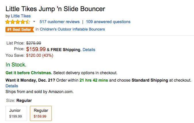 Little Tikes Jump n Slide Bouncer Amazon