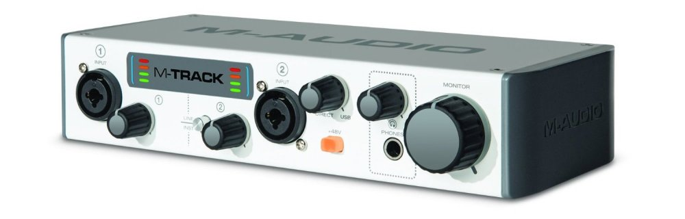 M-Audio M-Track MKII Two-Channel USB Audio Interface with Waves Plugins-sale-01