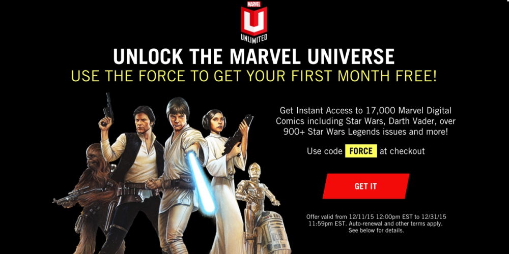 Marvel Unlimited Free for one month