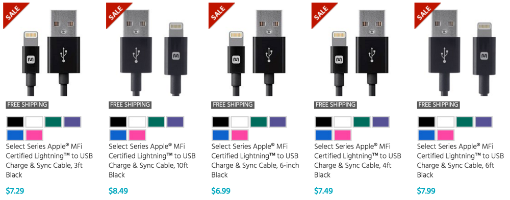 monoprice-lightning-cable-sale