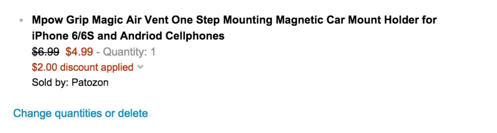 Mpow Grip Magic Air Vent iPhone 6:s Car Mount-sale-02