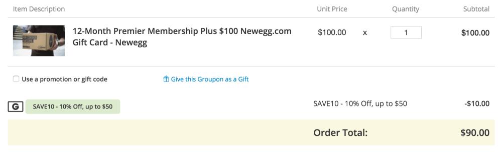 newegg-premier-membership-groupon-deal