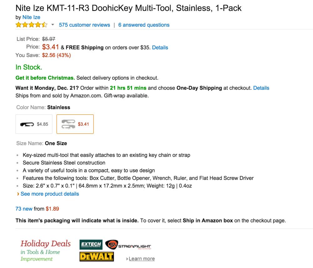 Nite Ize DoohicKey Multi-Tool (KMT-11-R3)-4