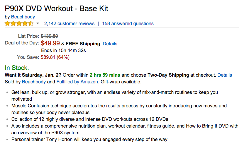 P90X DVD Workout - Base Kit Amazon