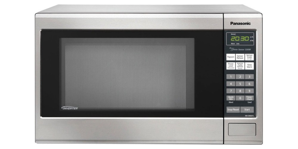 Panasonic Stainless Steel 1200W 1.2 Cu. Ft Countertop Microwave Oven with Inverter Technology (NN-SN661SAZ)