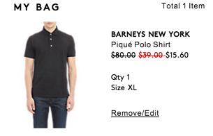 polo shirt clearance