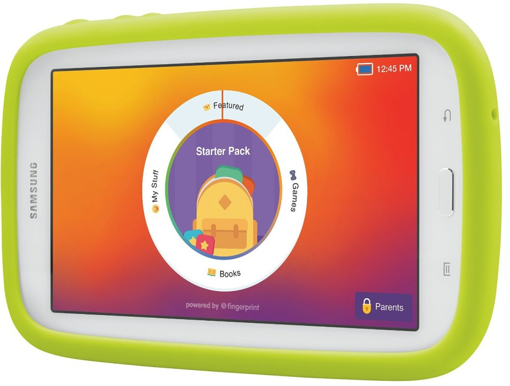 Samsung Galaxy Tab 3 Lite Kids Edition (7.0%22 Cream White with Green Bumper)