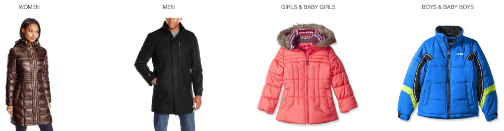 Save 60-75 on coats for women, men, and kids- Tommy Hilfiger, Perry Ellis, Calvin Klein,