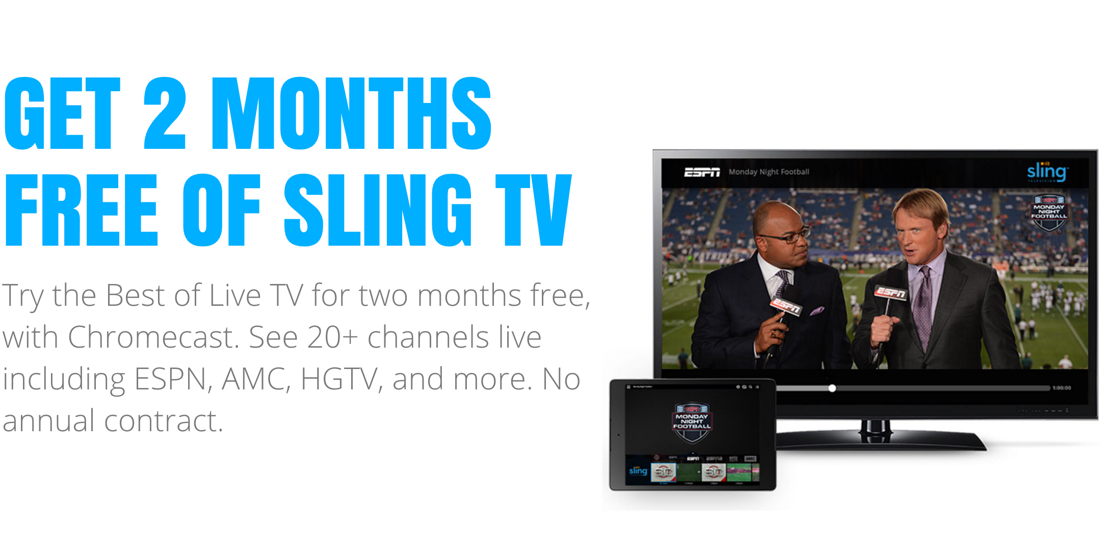 Sling tv one month trial