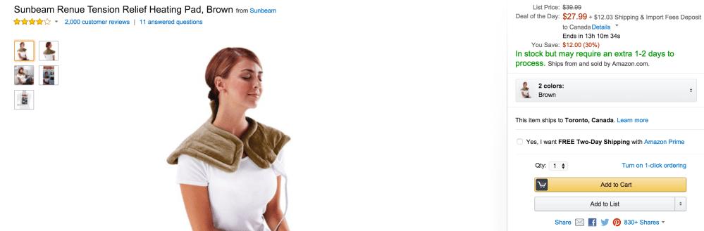 Sunbeam Renue Tension Relief Heating Pad-sale-02