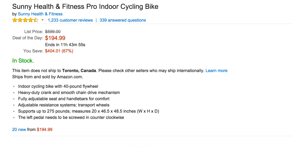 Sunny Health & Fitness Pro Indoor Cycling Bike-3