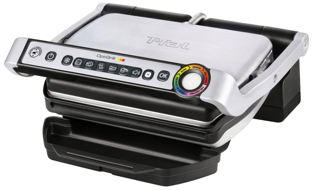 T-fal OptiGrill Stainless Steel Indoor Electric Grill (GC702)-sale-01