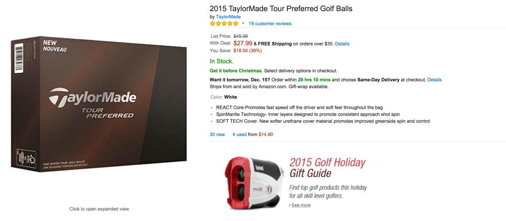 TaylorMade Tour Preferred Golf Balls (1 Dozen)-sale-02
