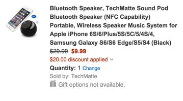 TechMatte Sound Pod Bluetooth Speaker with NFC