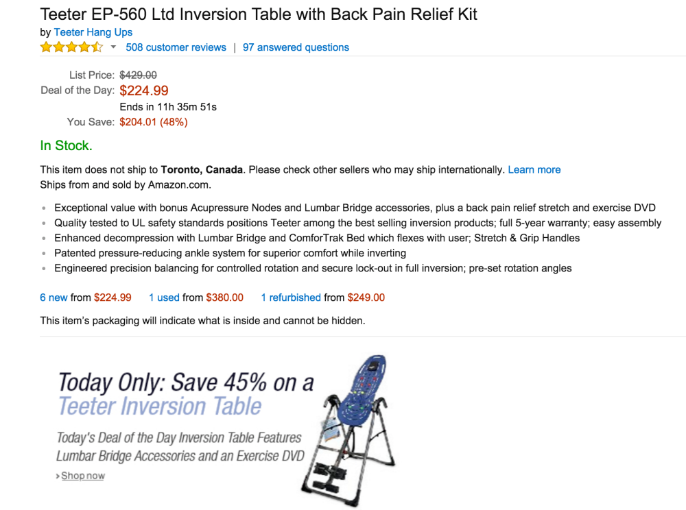 Teeter Exercise Inversion Table-sale-02