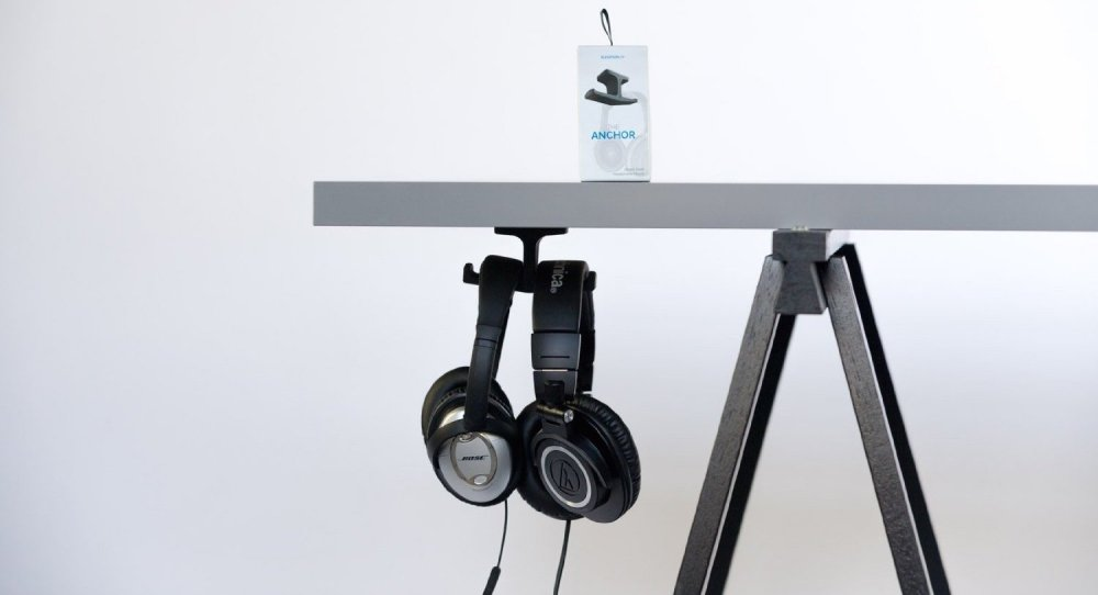 The Anchor - Under-Desk Headphone Stand Mount