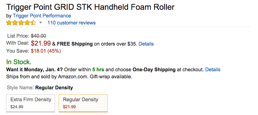 Trigger Point GRID STK Handheld Foam Roller Amazon