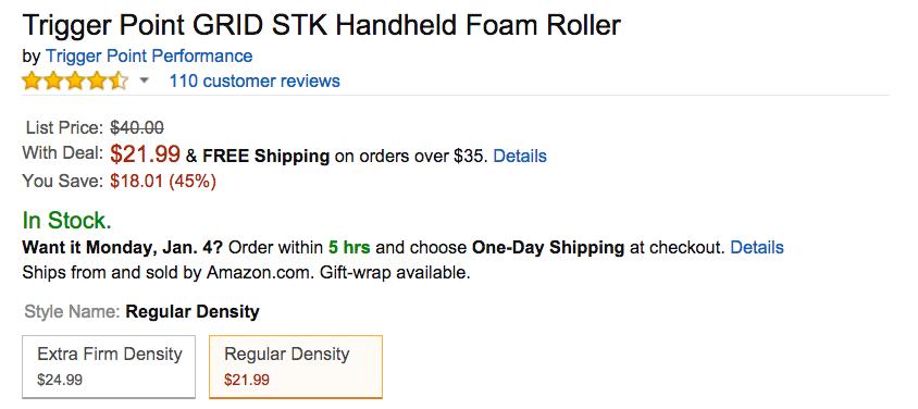 Trigger Point GRID STK Handheld Foam Roller Amazon